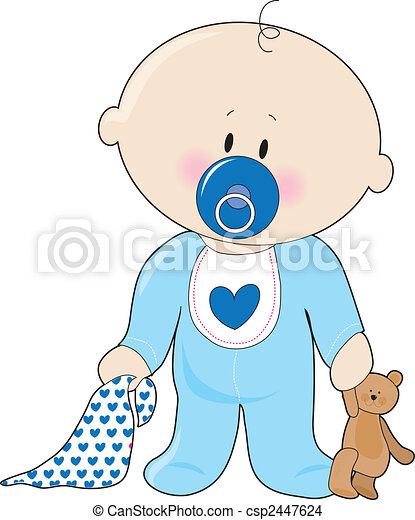 Tekening van baby jongen soother een baby jongen met een csp2447624 zoek naar clip - Fotos van de bebe garcon ...