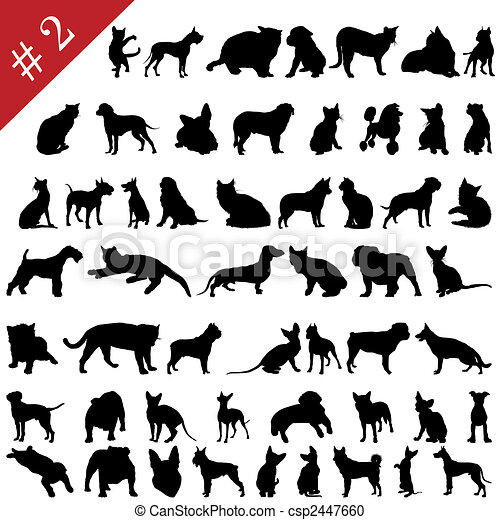 pets silhouettes # 2 - csp2447660