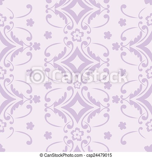 Purple floral background - csp24479015