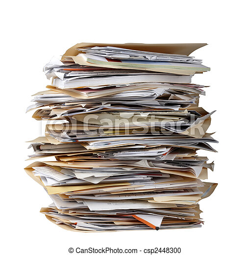 Stack of file folders - csp2448300