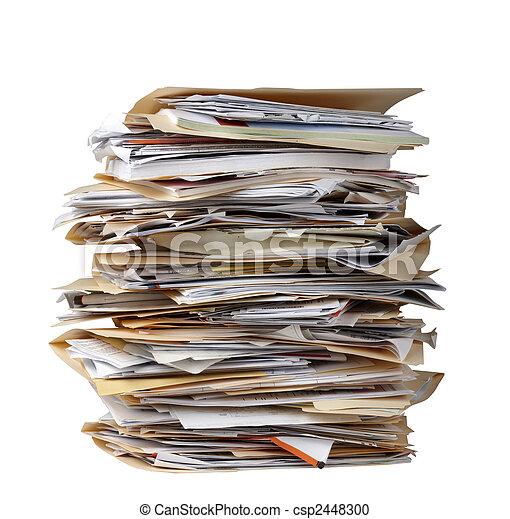 Stack of file folders - csp2448300
