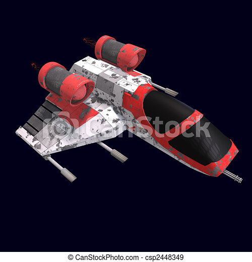 sci fi spaceship in universe - csp2448349