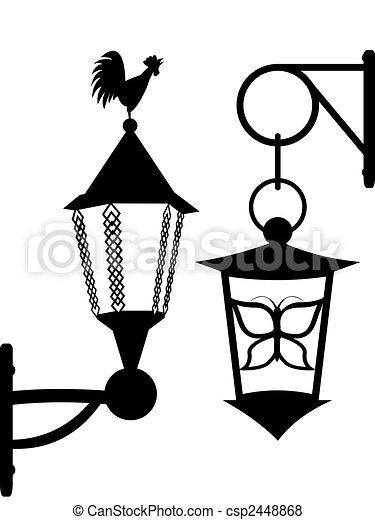 Ancient street lanterns - csp2448868