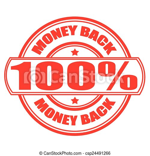 Clip Art Vector of money back stamp - Label stamp with text Money back on... csp24491266 ...