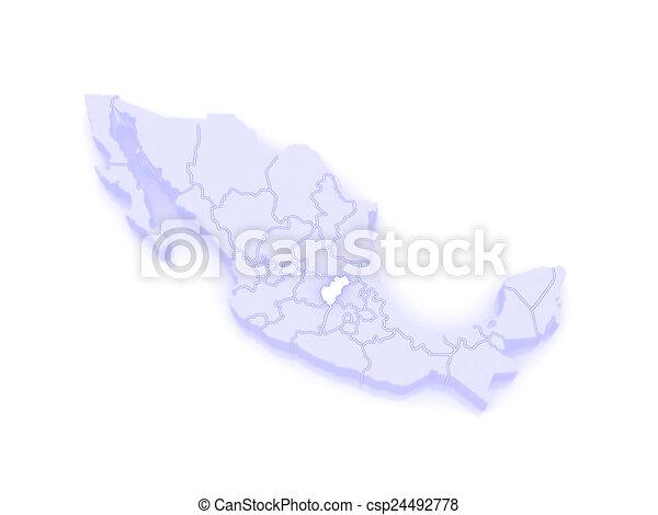 Stock de ilustraciones de mapa mexico queretaro  Map de
