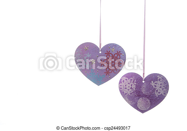 Valentines Day background with hearts - csp24493017