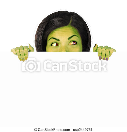 Halloween sign blank with copyspace - csp2449751