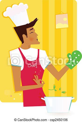 Man in the kitchen - csp2450106