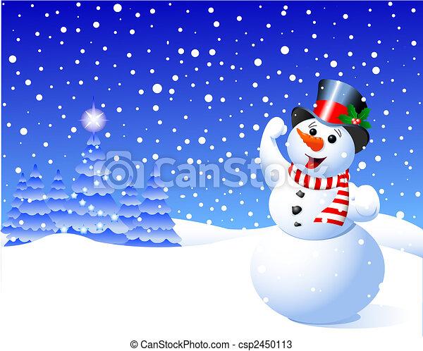 Snowman - csp2450113