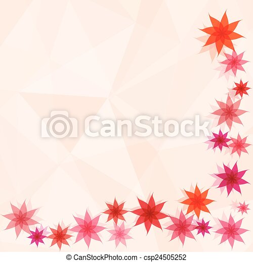 flower with abstract background - csp24505252