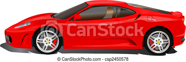 Italian sport car illustration - csp2450578