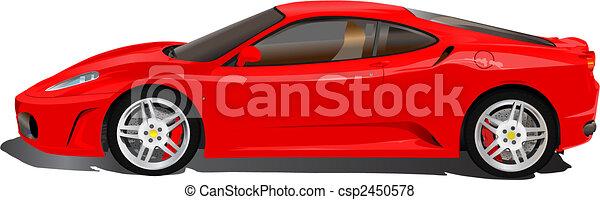 Italian sport car illustration - csp2450578