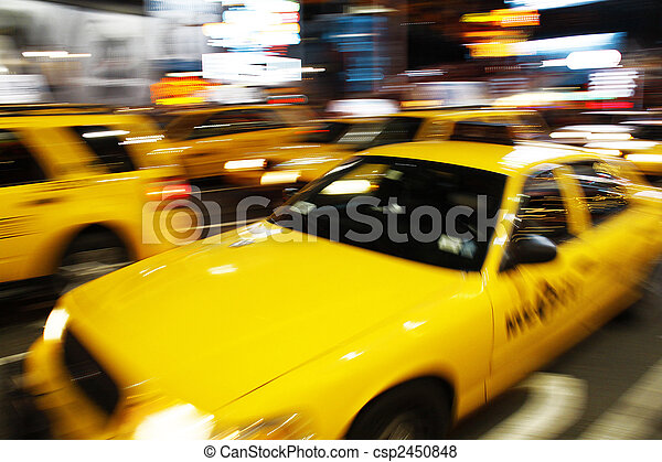 New York yellow cab - csp2450848