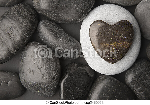 Heart Shaped Pebble  - csp2450926