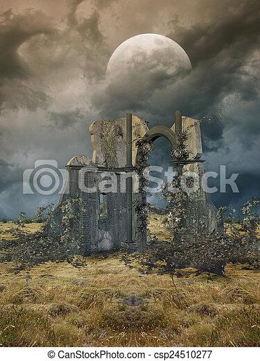 fantasie, landschaftsbild - csp24510277