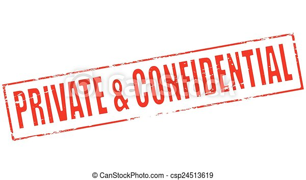 Vector Clip Art of Private and confidential - Stamp with text ...