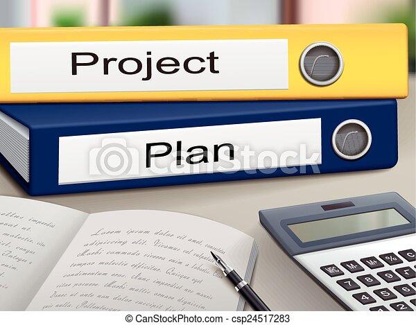 Vektor von projekt mappen plan projekt und plan for Meine wohnung click design free