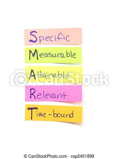 Smart goals sticky notes - csp2451899