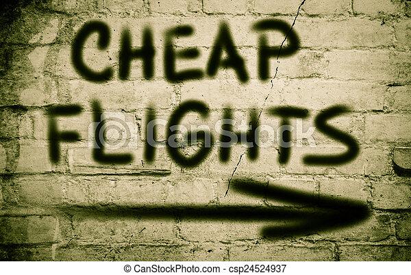 Cheap Flights Concept - csp24524937
