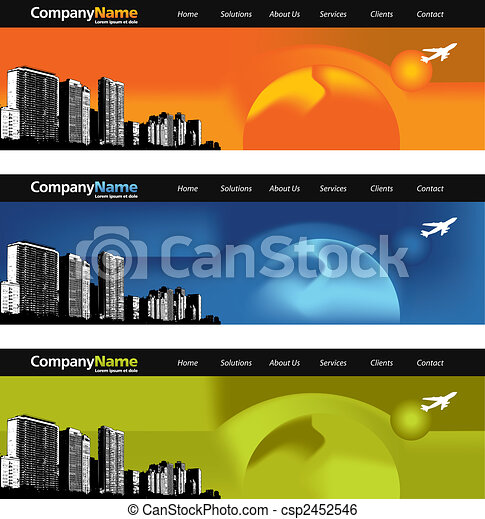 3 Web banners - csp2452546