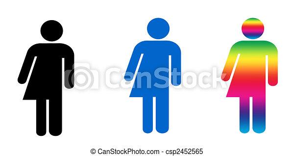 Androgyny or Transgender symbols - csp2452565