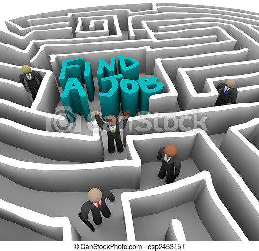 Find a Job - Business People in Maze - csp2453151
