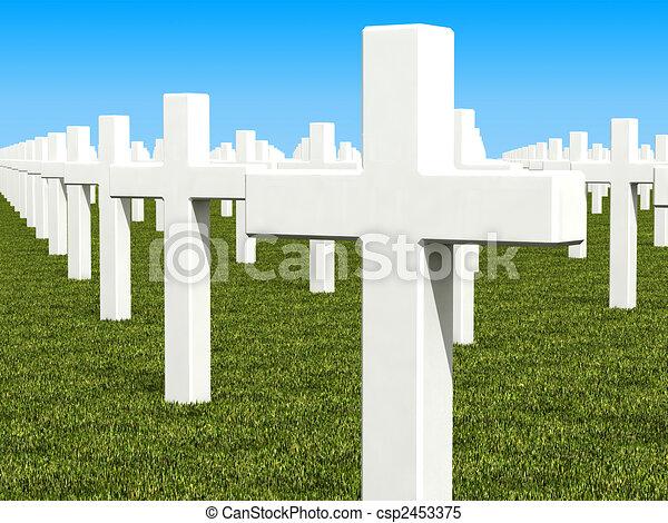 cemetery 3d - csp2453375