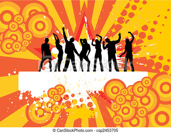 Clipart Vector of celebrating people - vector illustration ...