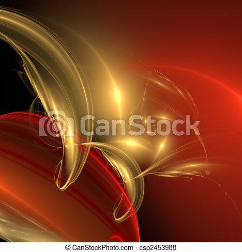 Abstract elegance background. Red - yellow palette. - csp2453988