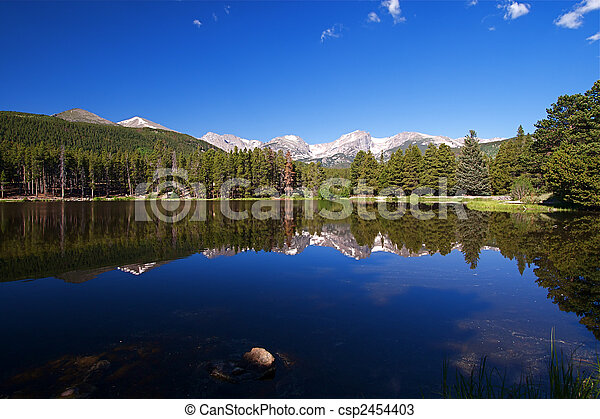 Rocky Mountain Lake - csp2454403
