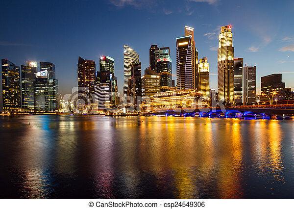 stock de fotos ciudad edificios singapur escena singapor plano de fondo noche