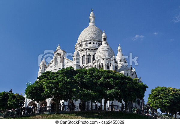 Sacre Coeur - famous cathedral in Paris, France - csp2455029