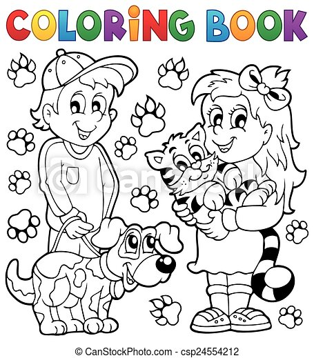 coloring book children with pets csp24554212 - Coloring Book For Children