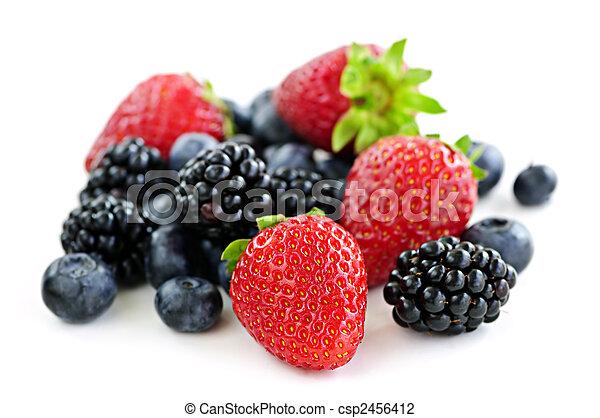 Assorted fresh berries - csp2456412