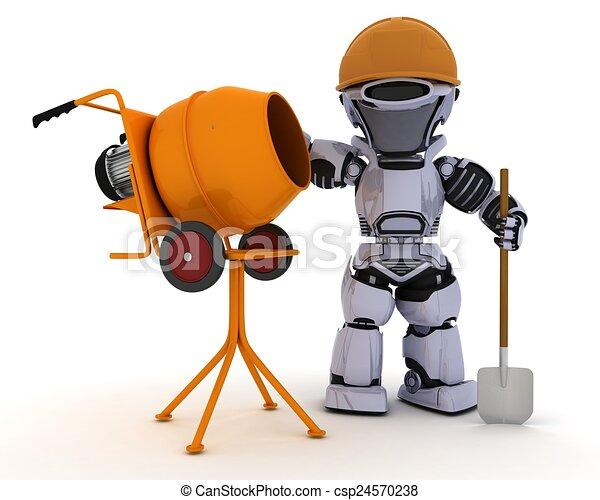 dessins de ciment constructeur robot m langeur 3d. Black Bedroom Furniture Sets. Home Design Ideas