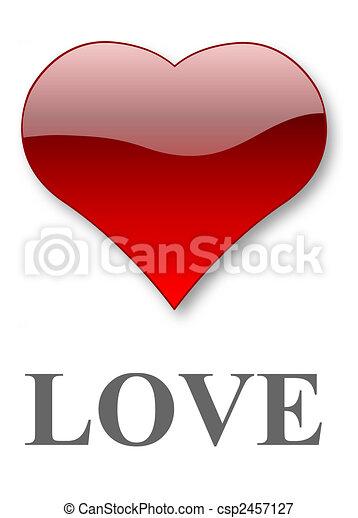Heart of love - csp2457127