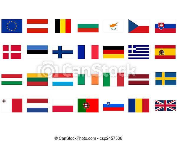 Banco de imagens de Bandeiras, europeu - Bandeiras, de, europeu, países,... csp2457506 ...