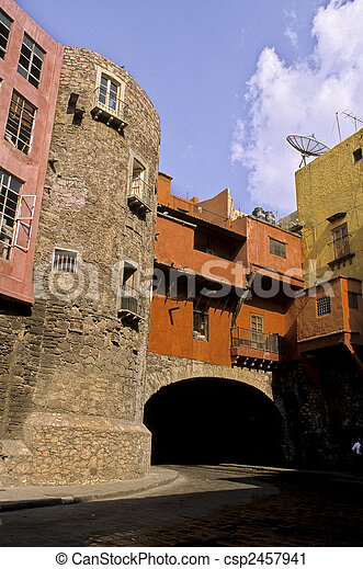 Underground streets in the colonial mining town of Guanajuato (Guanajuato State)- Mexico