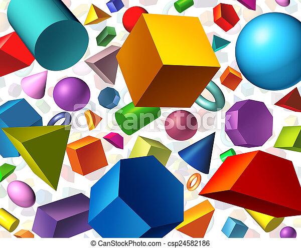 Geometric Shapes - csp24582186