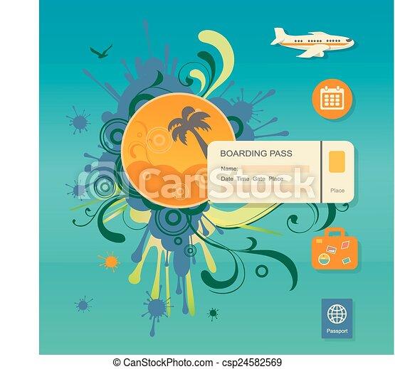 Clip Art Vector of Flat design style modern vector illustration – Ticket Design Online Free