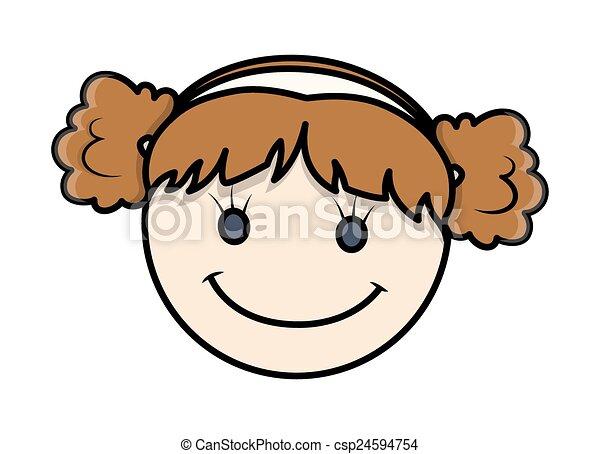funny cartoon kid girl happy face csp24594754 - Cartoon Kid Images