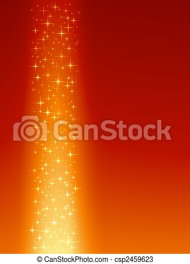 Festive red orange background with stars - csp2459623