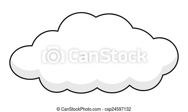 retro cloud banner csp24597132