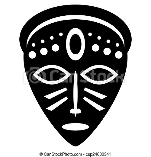 African Masks Drawings African Masks Isolated on
