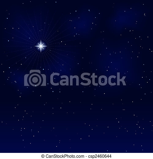 Peaceful starry night, silent and tranquil - csp2460644