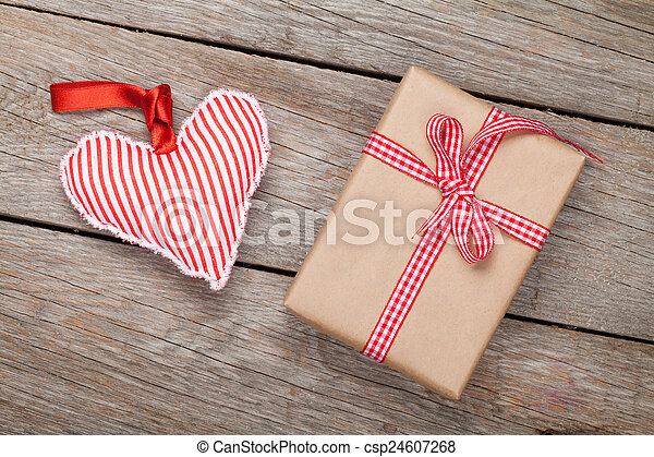 Valentines day toy heart and gift box