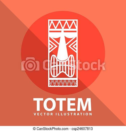 トーテム, アイコン - csp24607813 トーテム, アイコン, デザイン, ベクトル,