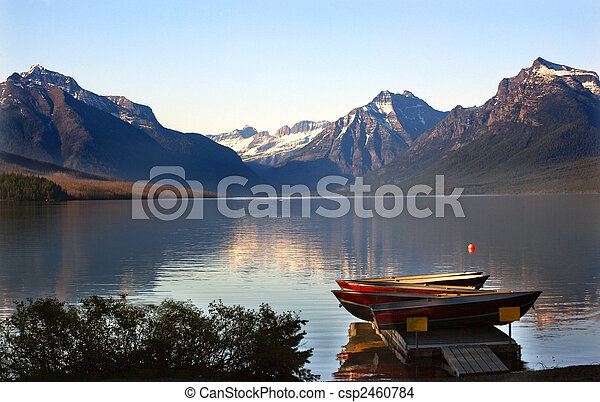 Lake McDonald Boats Glacier National Park - csp2460784