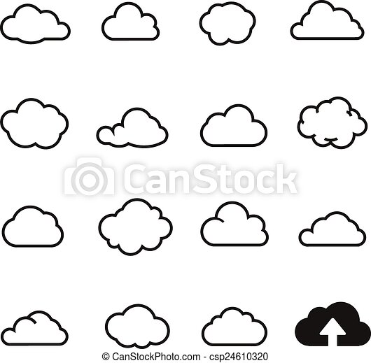 Cloud Shapes Drawing Cloud Shapes Collectio Icons