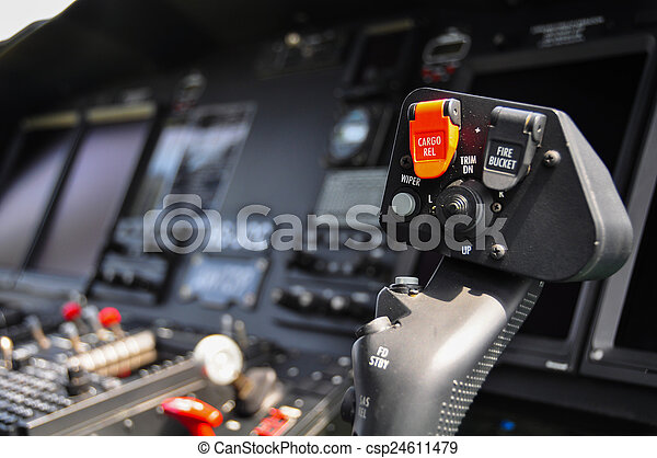 The pilots control panel inside